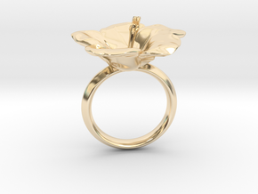 Hawaiian Hibiscus Ring in 14K Yellow Gold: 4.5 / 47.75