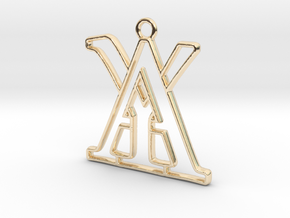 Monogram with initials A&Y in 14k Gold Plated Brass