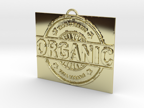 100% Organic in 18k Gold Plated Brass