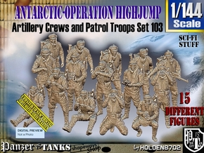 1/144 Antarctic Troops Set103 in Smooth Fine Detail Plastic