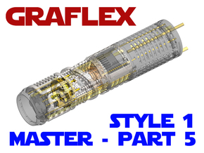 Graflex Master Chassis - Part5 Style1 - CC 2 in White Natural Versatile Plastic