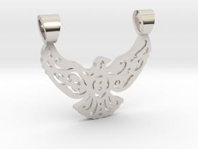 Lacework bird [pendant] in Rhodium Plated Brass