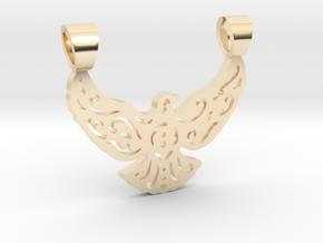 Lacework bird [pendant] in 14K Yellow Gold