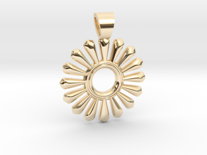 Sun of teeth in 14k Gold Plated Brass