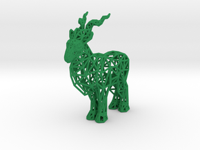 Markhor (adult male) in Green Processed Versatile Plastic
