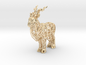 Markhor (adult male) in 14K Yellow Gold