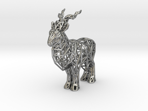 Markhor (adult male) in Natural Silver