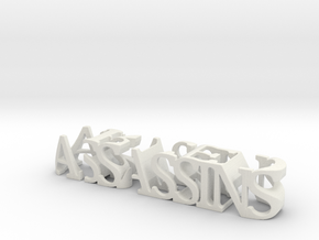 3dWordFlip: ASSASSINS/CREED in White Natural Versatile Plastic