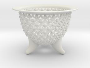 New Wave Neo Pot 4 in. in White Natural Versatile Plastic