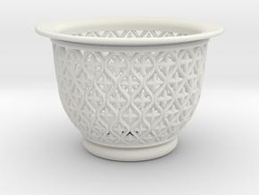 Neo Pot Vines 3 in. in White Natural Versatile Plastic