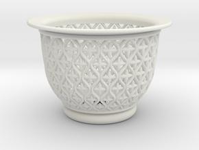 Neo Pot Vines 4 in in White Natural Versatile Plastic