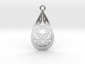 Persephone pendant in Polished Silver: Large