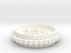 Sprocket Gear 63,4mm in White Processed Versatile Plastic