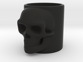 Skull Shot in Black Natural Versatile Plastic