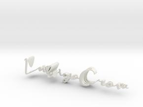 3dWordFlip: IndigoCrow/Yoga in White Natural Versatile Plastic