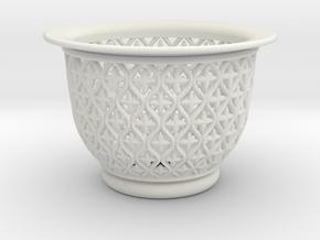 Neo Pot Vines 3.5 in. in White Natural Versatile Plastic