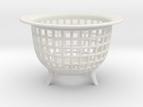 Neo Pot Weave 3in.  in White Natural Versatile Plastic