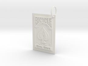 Bicycle Playing Cards Keychain in White Natural Versatile Plastic