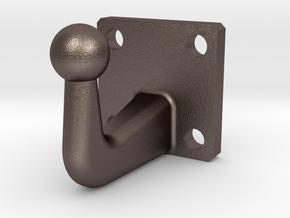 Steel Trailer Hitch 4.8mm in Polished Bronzed-Silver Steel