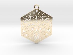 Ornamental pendant in 14k Gold Plated Brass