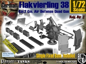 1/72 Ground Flakvierling 38 Set002 in Smooth Fine Detail Plastic