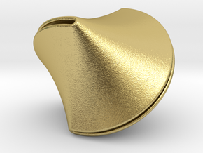 Sloped Sphericon Large & Hollow in Natural Brass