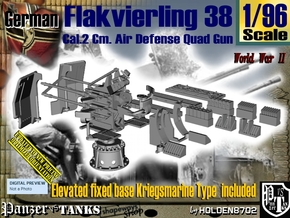 1/96 Kriegsmarine Flakvierling 38 Set001 in Smooth Fine Detail Plastic