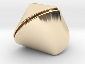 Sphericon Large & Hollow in 14K Yellow Gold