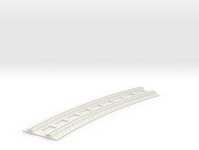x-165bas-b2b-long-curved-r1-track-joiner-1a in White Natural Versatile Plastic