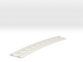 x-165bas-b2b-long-curved-r2-track-joiner-1a in White Natural Versatile Plastic