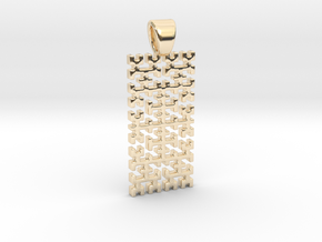 Big Hilbert curve [pendant] in 14k Gold Plated Brass
