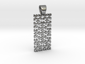 Big Hilbert curve [pendant] in Polished Silver