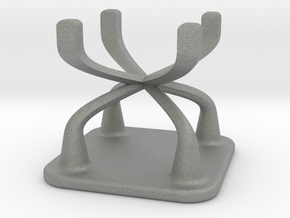Doll Stool Chair 01 in Gray PA12