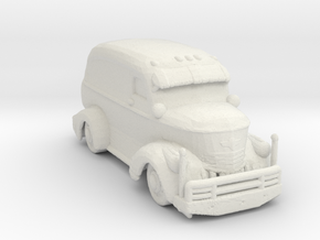 Jeepers Creeper Van v2 285 scale in White Natural Versatile Plastic