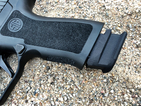 Extended X Frame Base Pad for SIG P320- Circle in Black Natural Versatile Plastic