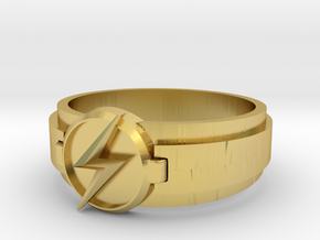 Kid Flash Ring size 10 in Polished Brass