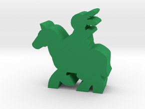 Game Piece, Native American, Horse in Green Processed Versatile Plastic