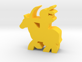 Game Piece, Native American, Horse, Bow in Yellow Processed Versatile Plastic