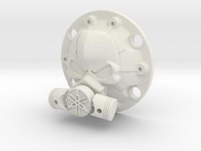 WPL Toxic Skull Diff Cover in White Natural Versatile Plastic