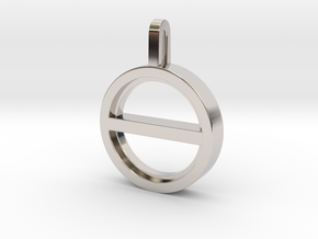 Balance - Unisex Necklace  in Rhodium Plated Brass: Small