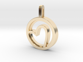Heart  in 14k Gold Plated Brass: Small