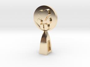 CUSTOM PAW PRINT  in 14k Gold Plated Brass