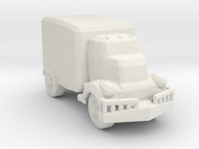 Jeeper's creeper Van v1 160  scale in White Natural Versatile Plastic