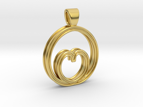 Egg of love [pendant] in Polished Brass
