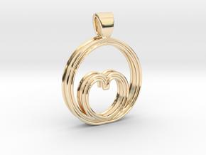 Egg of love [pendant] in 14k Gold Plated Brass
