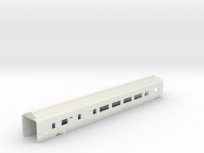 Caisse Eurostar Voiture Sécable HO in White Natural Versatile Plastic