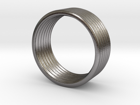 Wave Ring 5 mm 8,25 size in Polished Nickel Steel