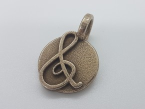 Octavia Pendant in Polished Bronzed Silver Steel