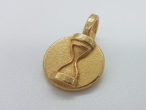 Dr Hooves Pendant in Polished Gold Steel