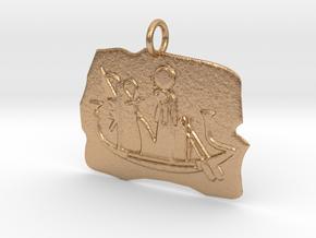 Ra's Solar Barque amulet in Natural Bronze